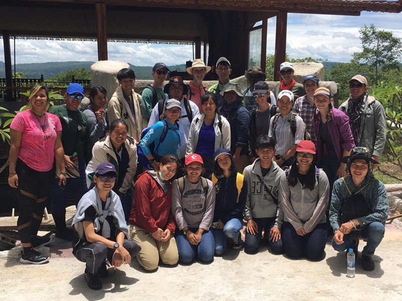 Undergraduate students participated in a research trip to Thailand.