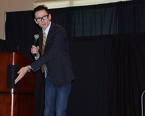 Jack Gantos speaks at the 2013 literacy conference presented by the College of Education and Health Professions.