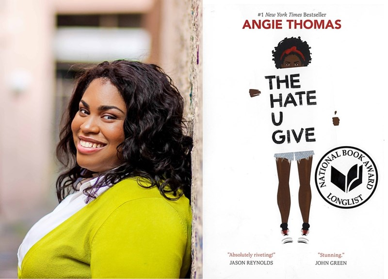 Angie Thomas, author of The Hate U Give.