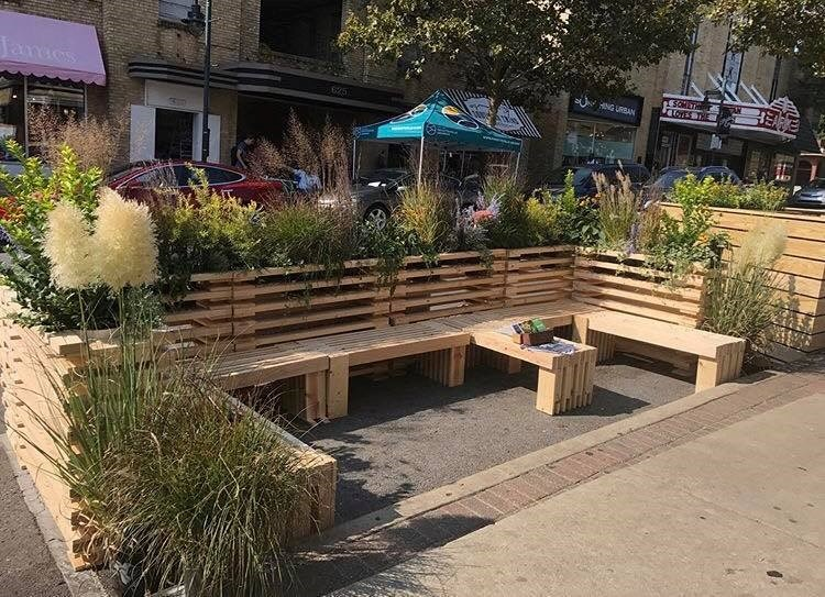 A parking spot outside Blackboard Grocery and Eatery on Dickson Street will be transformed into a miniature park Sept. 21 for Park(ing) Day.