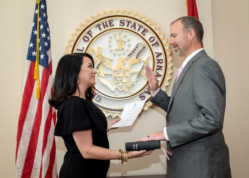 Adam Waddell became a member of the Arkansas Public Transportation Council when he was sworn in on Aug. 23.