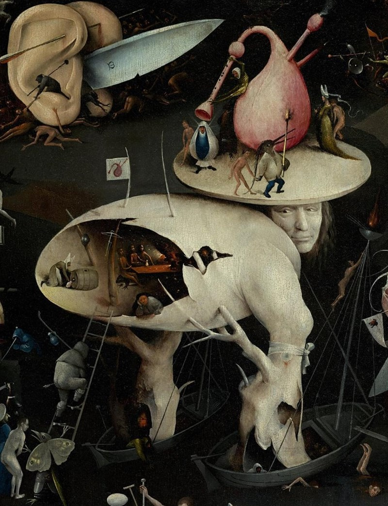 Hieronymus Bosch, The Garden of Earthly Delights (detail), Museo del Prado, Madrid.