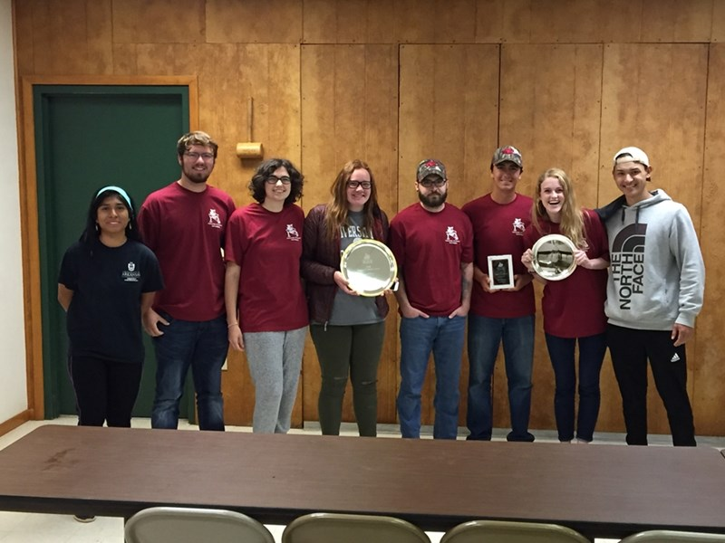 The U of A soil judging team is made up of students in Bumpers College's Department of Crop, Soil and Environmental Sciences.