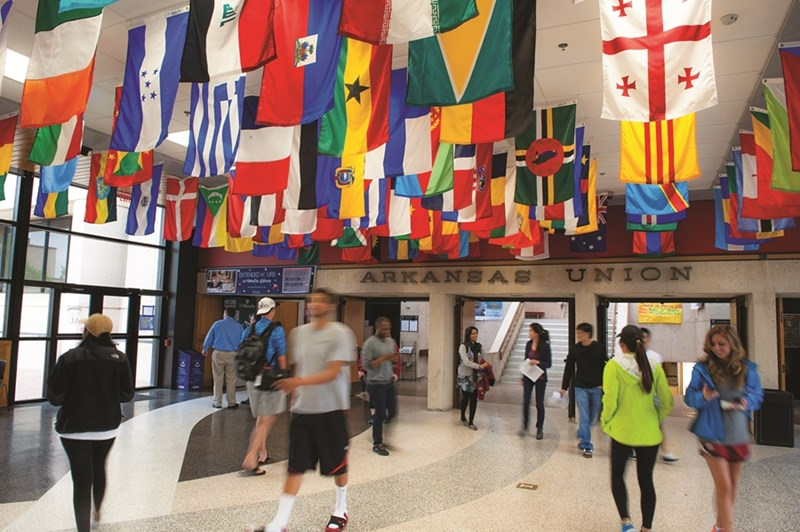 International Education Week kicks off with an International Bazaar at 11 a.m. today in the Arkansas Union.