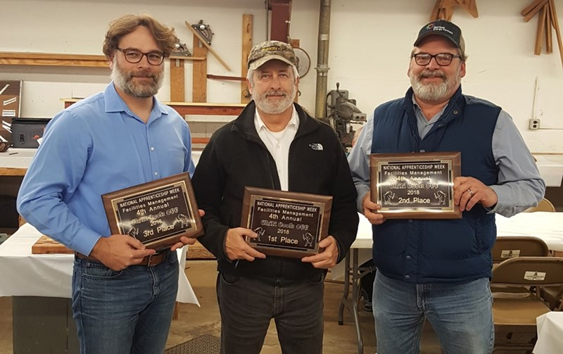 Chili Cook-off winners: l-r: Tim Penhallegon, Gary Enzor and Rick Gragg