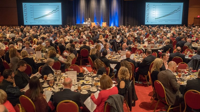 The crowd on hand for the 2018 Business Forecast luncheon.