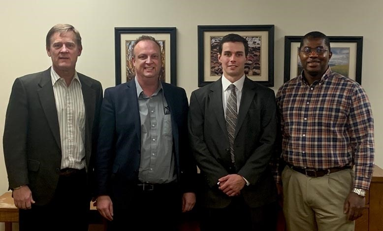 From left, Bruce Ahrendsen, Andrew McKenzie, John Leander Turner, and Daniel Rainey