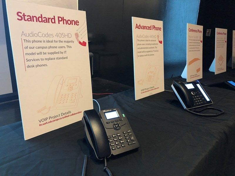 View the new desk VoIP phones and conference phones at an upcoming demo.