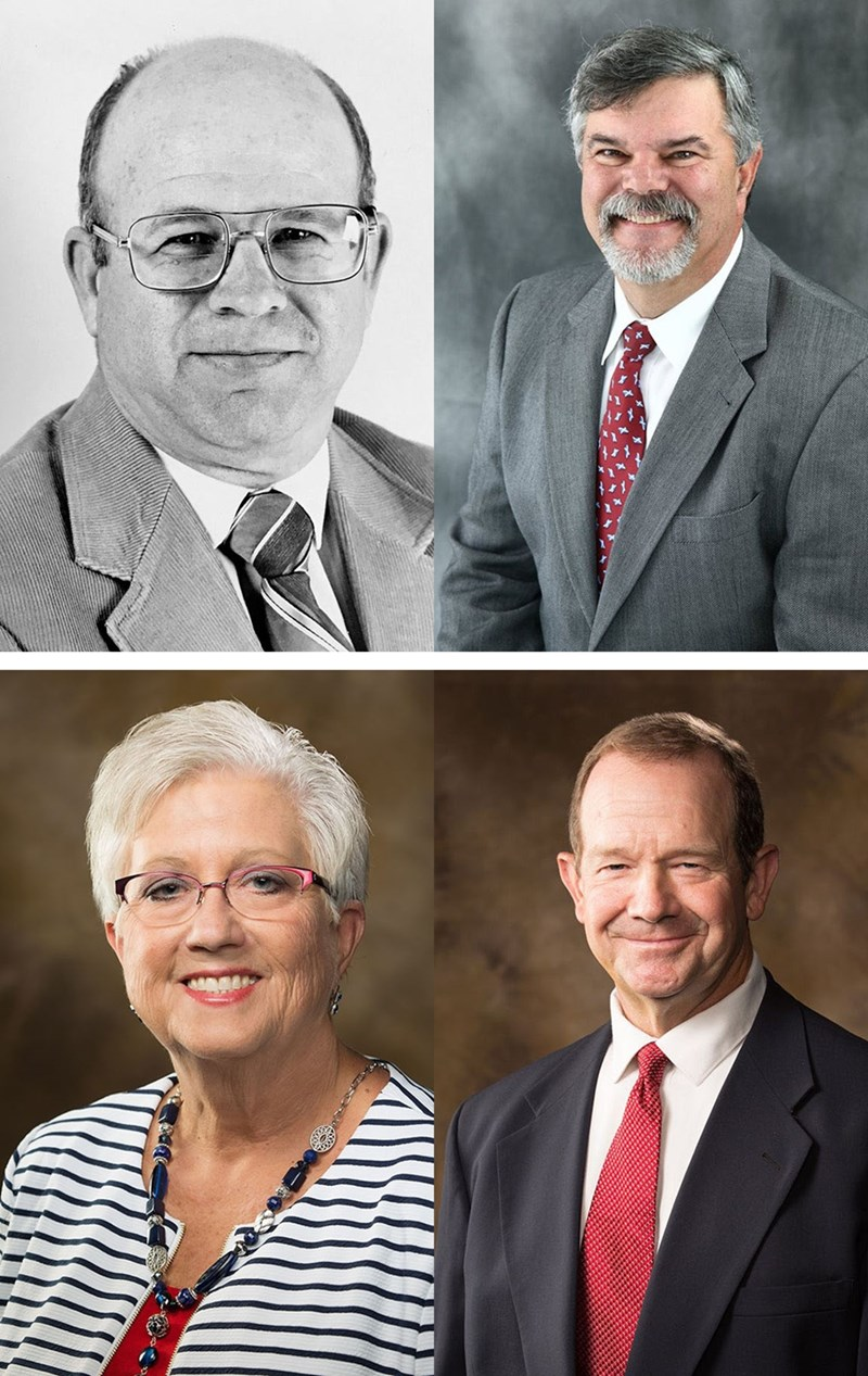 Arkansas Agriculture Hall of Fame inductees: (top from left) Bernie Daniels and Ed Fryar; (bottom) Donna L. Graham and Terry Siebenmorgen.