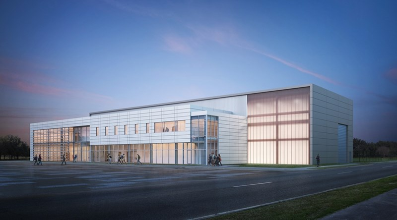A conceptual rendering of the new Civil Engineering Research and Education Center.