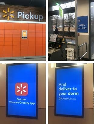 The Walmart on Campus now offers pickup lockers, self-checkout and delivery to residence halls on campus.