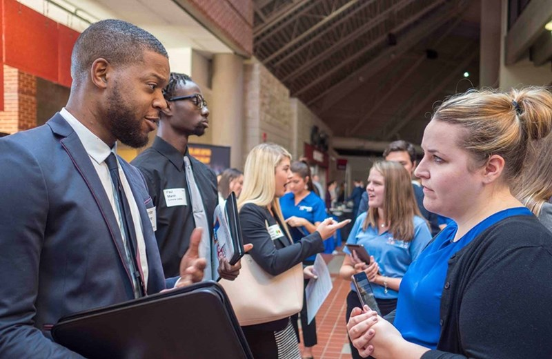 Walton Career Services at the Sam M. Walton College of Business hosts a variety of events throughout the year to help students find jobs and to help recruiters find talent.