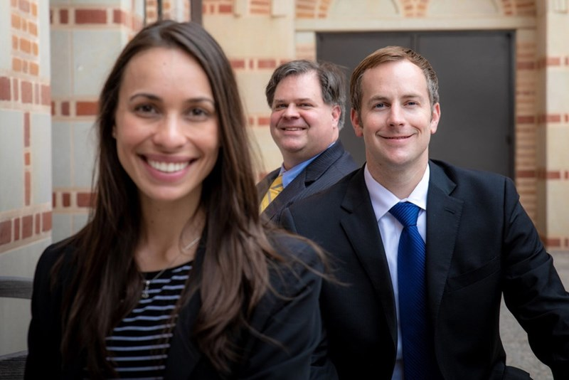 From left: Flavia Araujo, Michael Dunavant, and Jared Greer of Lapovations LLC.