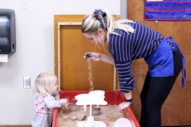 The innovative STEAM lab encourages toddlers and preschoolers enrolled in the Jean Tyson Child Development Student Center to tinker, design, construct, create and represent their ideas.