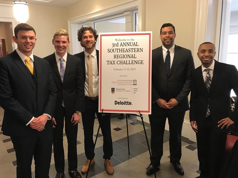 University of Arkansas team members, from left, were Levi Cloud, Chance Causey, Will Martens, Kameron Richards and Eric Williams.