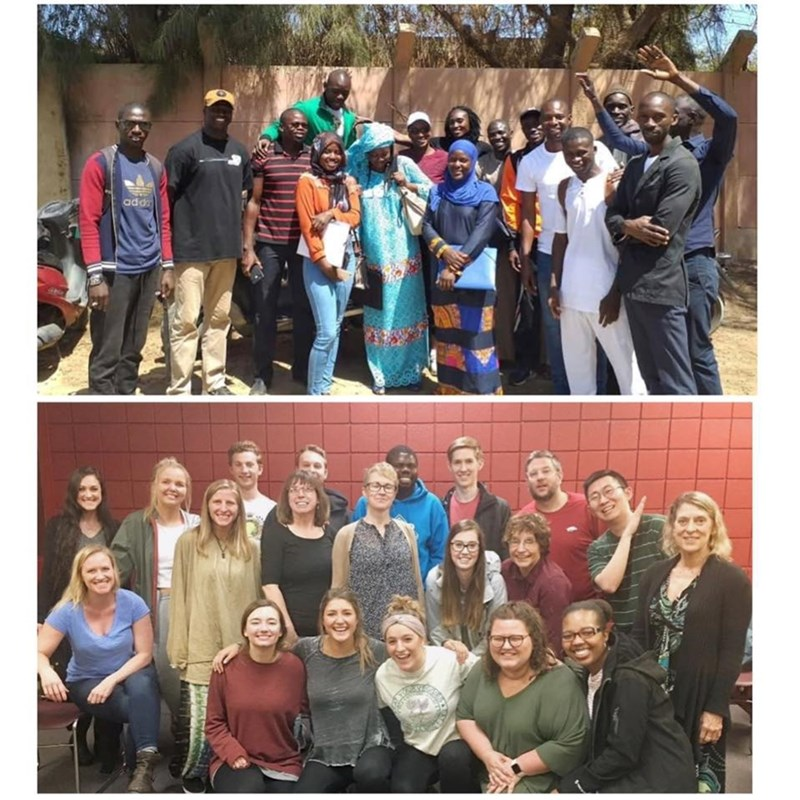 Senegalese sports leaders (top) visit Northwest Arkansas to participate in two-week workshop developed by U of A students (bottom)