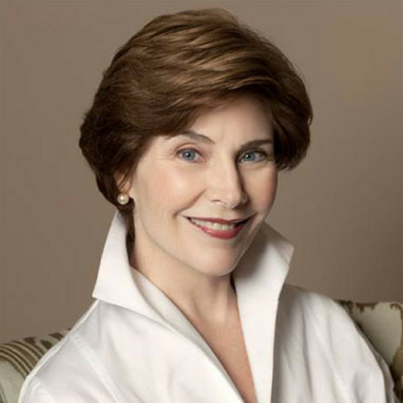 Laura Bush, first lady of the United States (2001-2009)