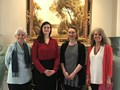 From left: Priscilla Kumpe, president of the PEO Chapter BU, Fayetteville; Hillary Fischer; Fiona Goggin; and Susan Tonymon, Scholar Award chair, PEO Chapter BU, Fayetteville.
