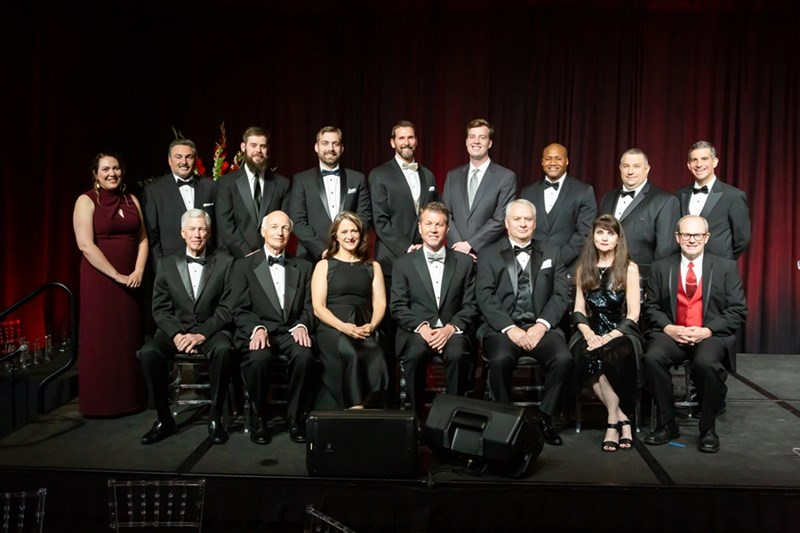Front row, from left: Bob Etien, Thomas Wright, Deva Hupaylo, J.R. Jones, Michael Elmore, Cristine Wolf and Michael Blinzler. Back row: Tracie Nutter, Steven Danforth, Royce Floyd, Kyle Kruger, Scott Bennett, Ben Rainwater, Willie Montgomery III, Brian Rowden and Alfonso Camerlingo.