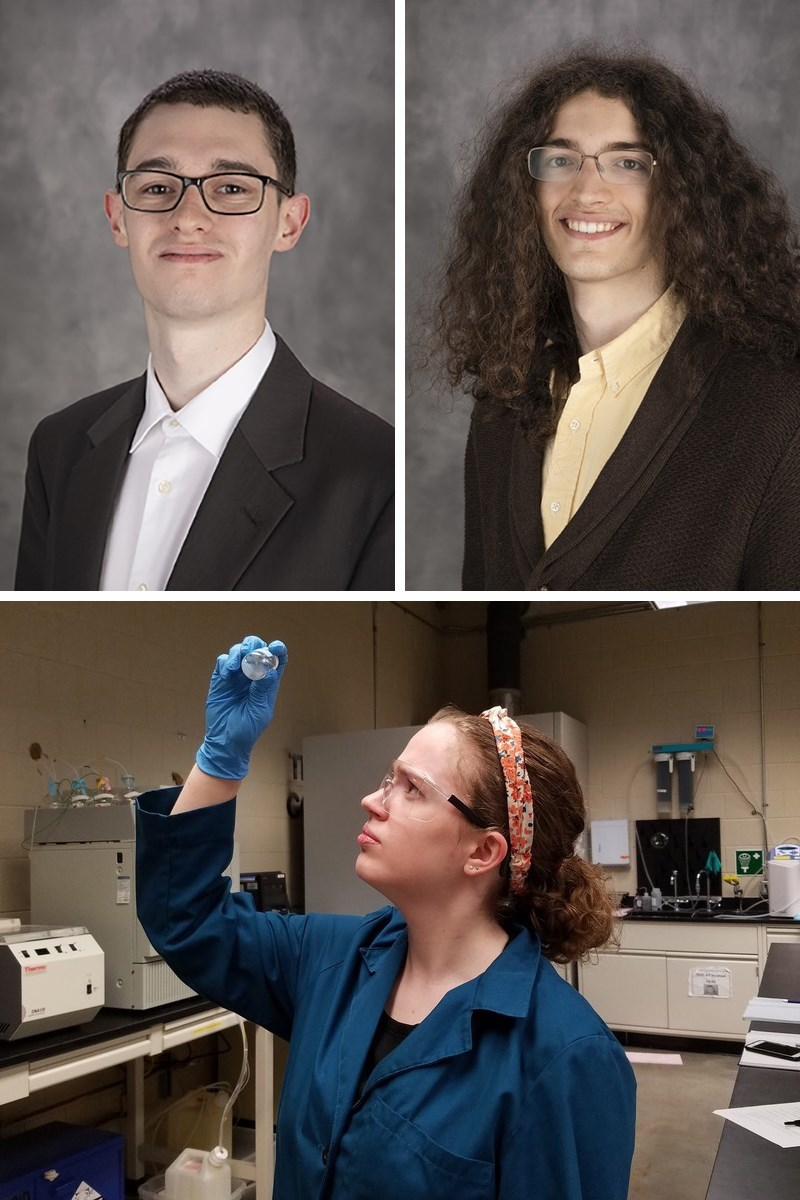 Top, from left: Tyler Bishop, Austin Kreulach; bottom: Meagan Olsen.