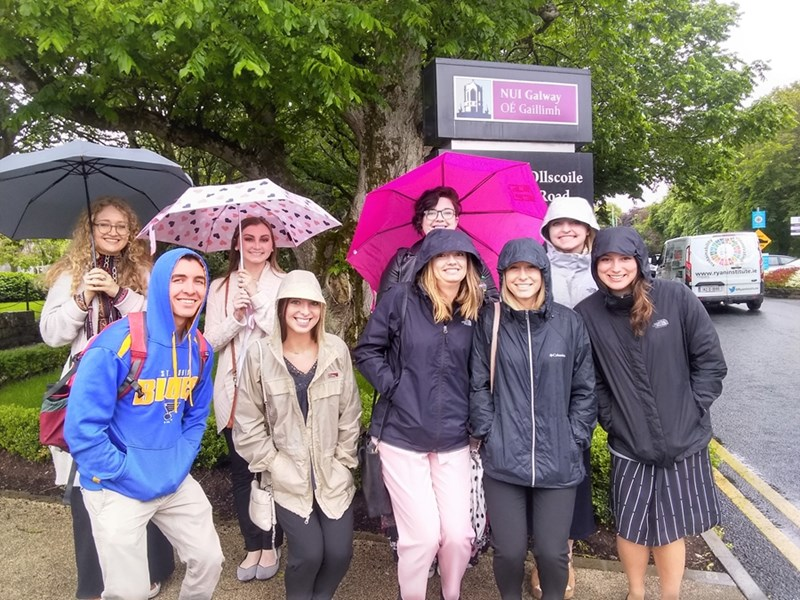 University of Arkansas health professions students recently visited Ireland with Jean Henry to observe the country's health care system.