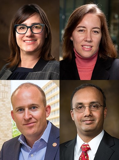 Chancellor's Academic Fellows, clockwise from top left: Jamie Baum, Heather Nachtmann, Raj Rao, Brent Williams