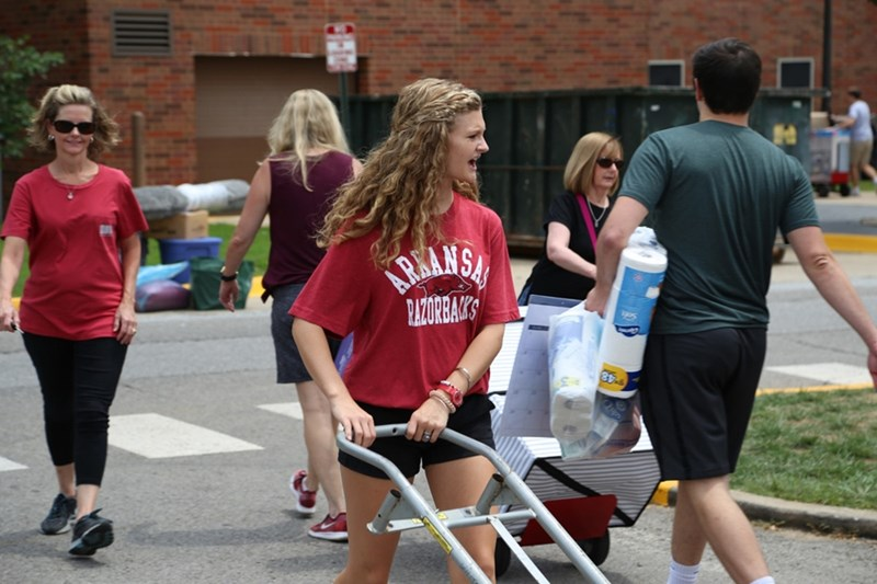 More than 5,700 students will arrive on campus  during Move-in 2019.