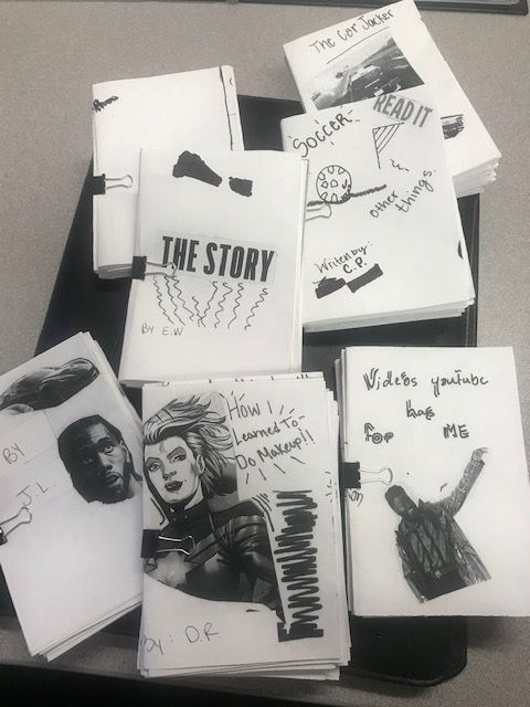 Zines made by incarcerated youth.