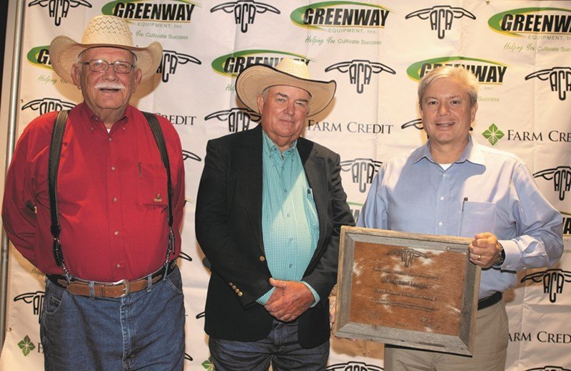 Michael Looper receives his award while attending the annual American Cattlemen's Association convention and trade show.