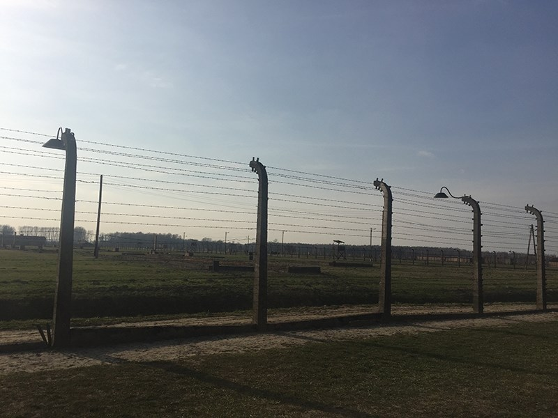 The Birkenau concentration camp in Poland, part of the Auschwitz-Birkenau complex. Under the Nazi regime more than one million people died there; the vast majority of the victims were Jews who were killed in gas chambers.