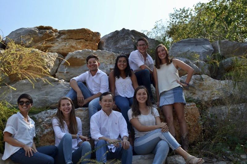 Manchusa Loungsangroong, Samantha Ellis, Nophachai Cholthitchanta, Madeline Kendall, Nathan Barker, Lily Fuentes, Ben Cook, and Erica Wilson.