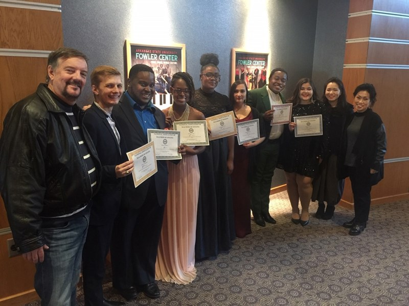 U of A students and faculty at the 2019 conference of the National Association of Teachers of Singing in Jonesboro.