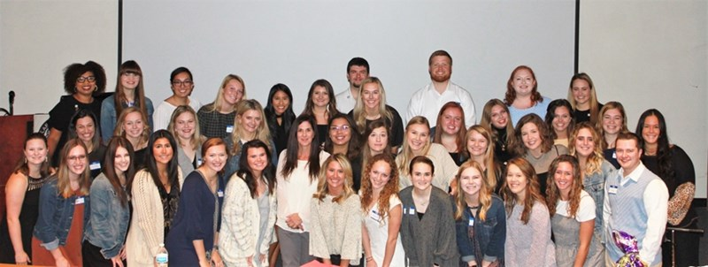 Kappa Delta Pi, the International Honor Society in Education, inducted 37 new members at a ceremony Oct. 27 in the Graduate Education Building.