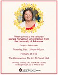 Join the Division of Student Affairs for a reception honoring Marsha Norvell.