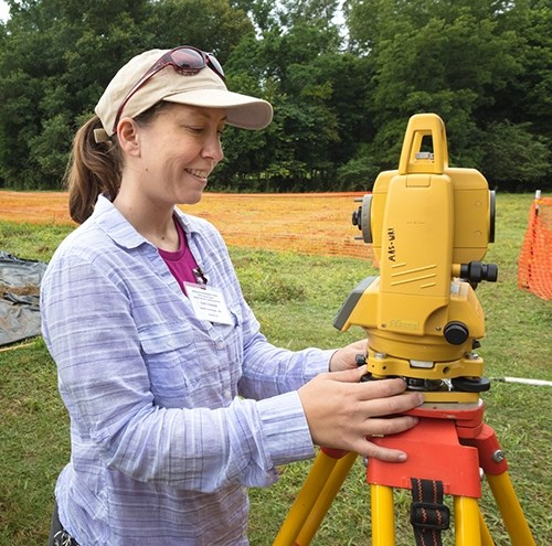 Emily Beahm at Lockesburg field site in southeast Arkansas.