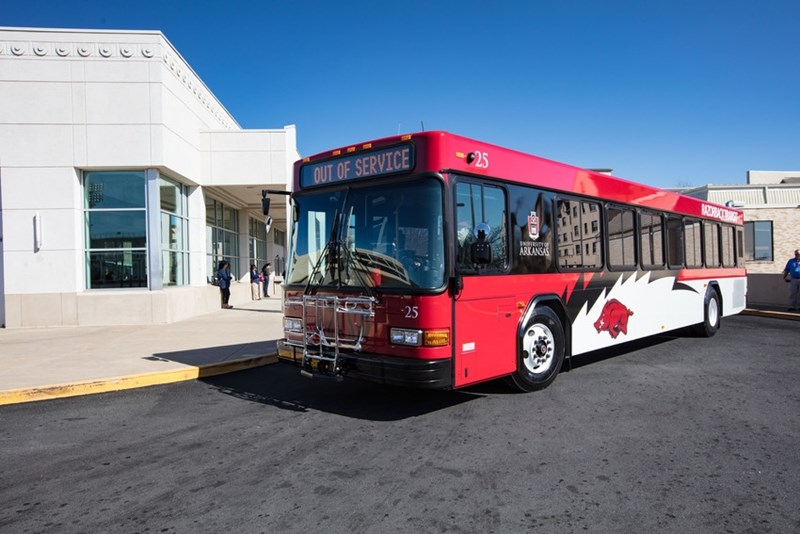 Razorback Transit will go on a limited schedule starting at 1 p.m. on Thursday, March 19.