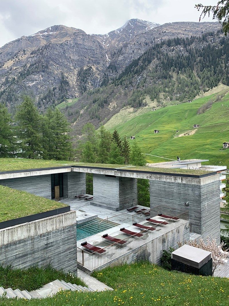 Therme Vals in Vals, Switzerland, designed by Peter Zumthor.