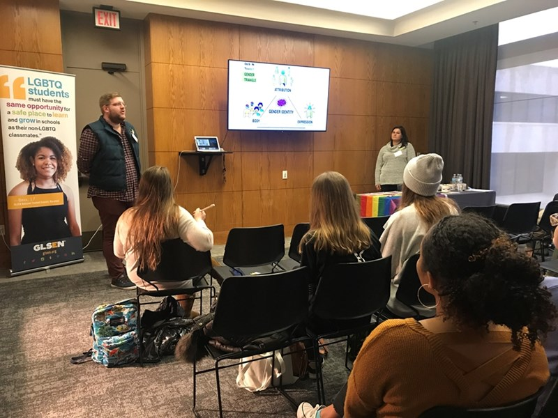 In January, U of A students participated in a GLSEN Professional Development Workshop sponsored by the COEHP Diversity and Inclusion Committee.