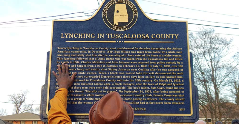 A historical marker in Tuscaloosa County, Alabama, provides educational and historical background, similar to that planned for a commemorative marker at Oaks Cemetery in Fayetteville.