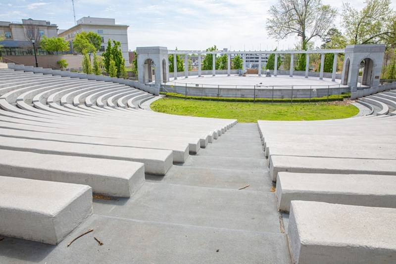 The Chi Omega Greek Theatre, one of many venues on campus.