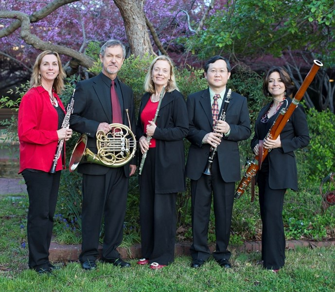 Performances by the Univeristy of Arkansas Lyrique Quintette, pictured, are included in the collection.