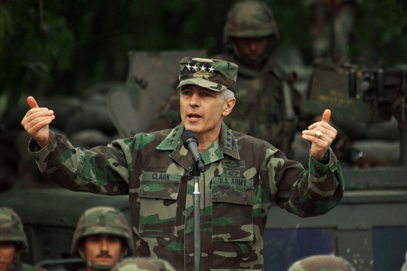 As NATO Supreme Commander, Gen. Wesley Clark rallied U.S. Marines and Army soldiers, leading them to victory in Operation Allied Force, a 78-day air campaign, backed by ground invasion planning and a diplomatic process, which saved 1.5 million Albanians from ethnic cleansing.