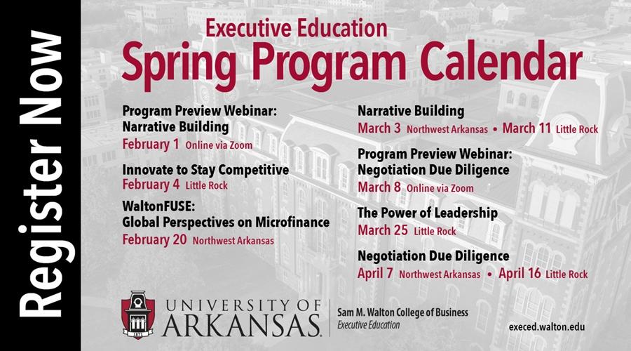 Walton Executive Education Spring Open Enrollment Courses