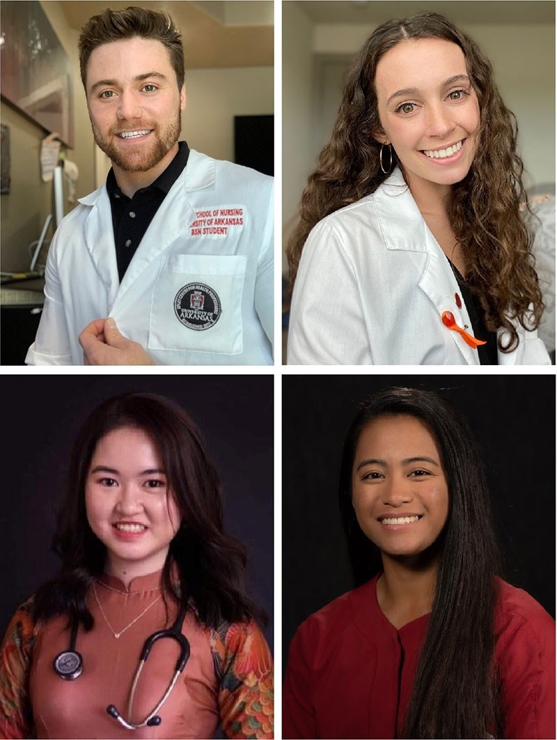 Top, from left: Payne Colton and Jessica Weiss; bottom: Trang Do and Sam Torres.
