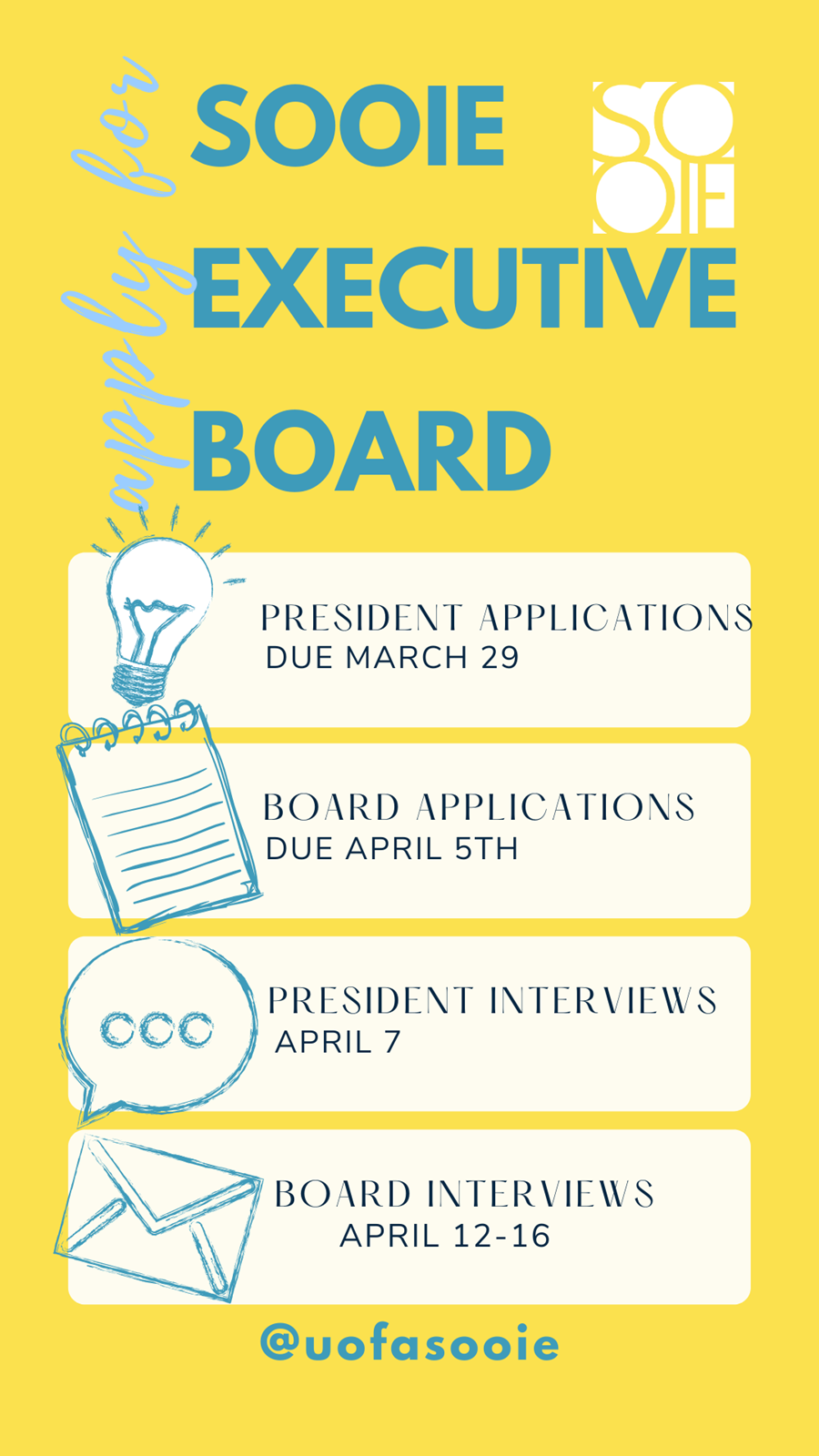 SOOIE 2021 22 Executive Board Applications Now Available