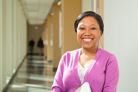 Lydie Louis, doctoral student, University of Arkansas. Photo by Russell Cothren.
