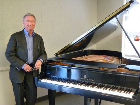Mark Rumsey at the naming of the Mary Baker Rumsey Piano at KUAF