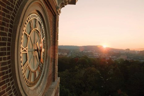 Thanks to the campaign, a clock was added to Old Main, where many thought a clock had always been.